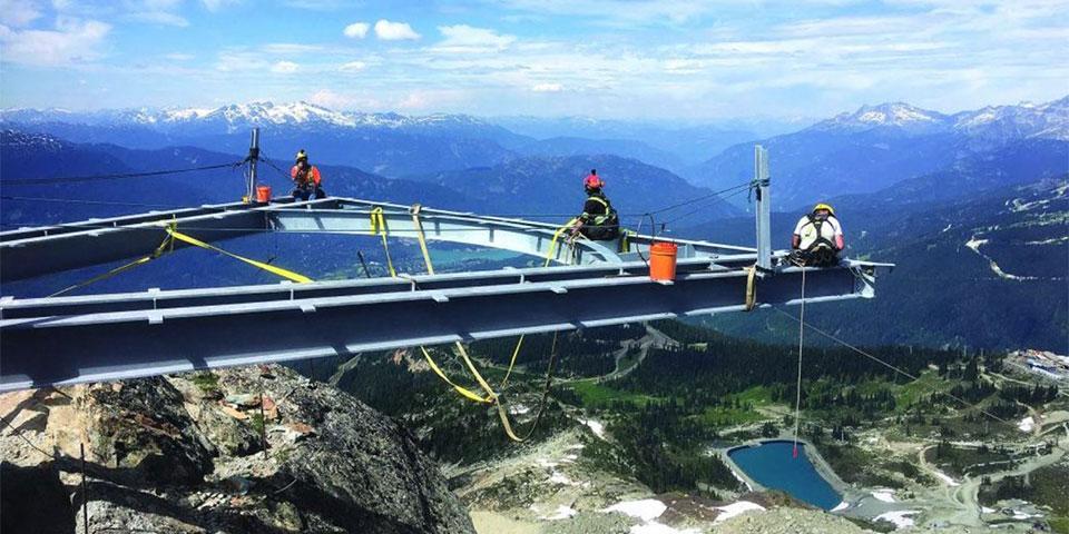 Alpine-footbridge