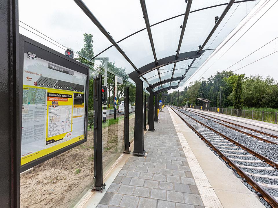 Overkapping tramhalte Fokkesteeg kopiëren